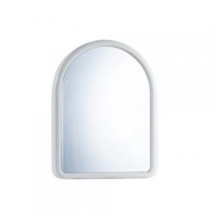 specchiera ovale bianca